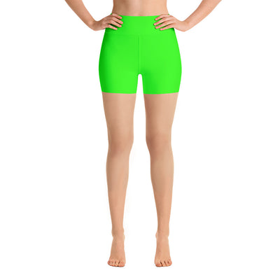 Bubblelingo Yoga Shorts - Neon Green