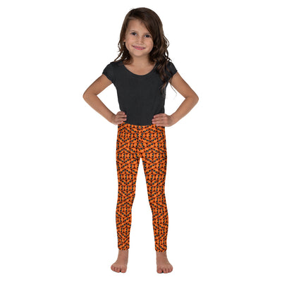 Bubblelingo Cool Dude Orange  Little Girls' Leggings