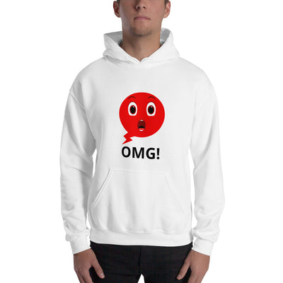 Shocky Emoji Hooded Sweatshirt unisex white OMG