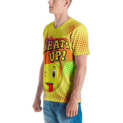What's Up Yellow Men's V-neck T-shirt