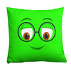 Bubblelingo Peepers Green Throw Pillow