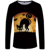 Halloween Cat Long Sleeve T shirt