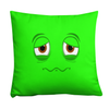 Bubblelingo Sick Green Throw Pillow