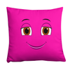 soft square pillow  Bubblelingo Smiley Emoji in Pink