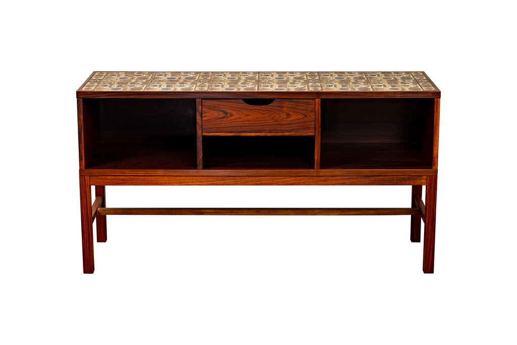 "-SOLD- ""BACA"" Tile Chest by Severin Hansen Jr. w/ Royal Copenhagen"