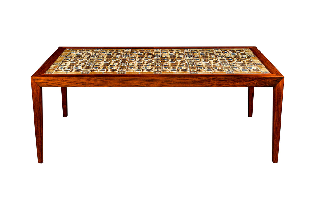 """BACA"" Tile Table by Severin Hansen Jr. w/ Royal Copenhagen"