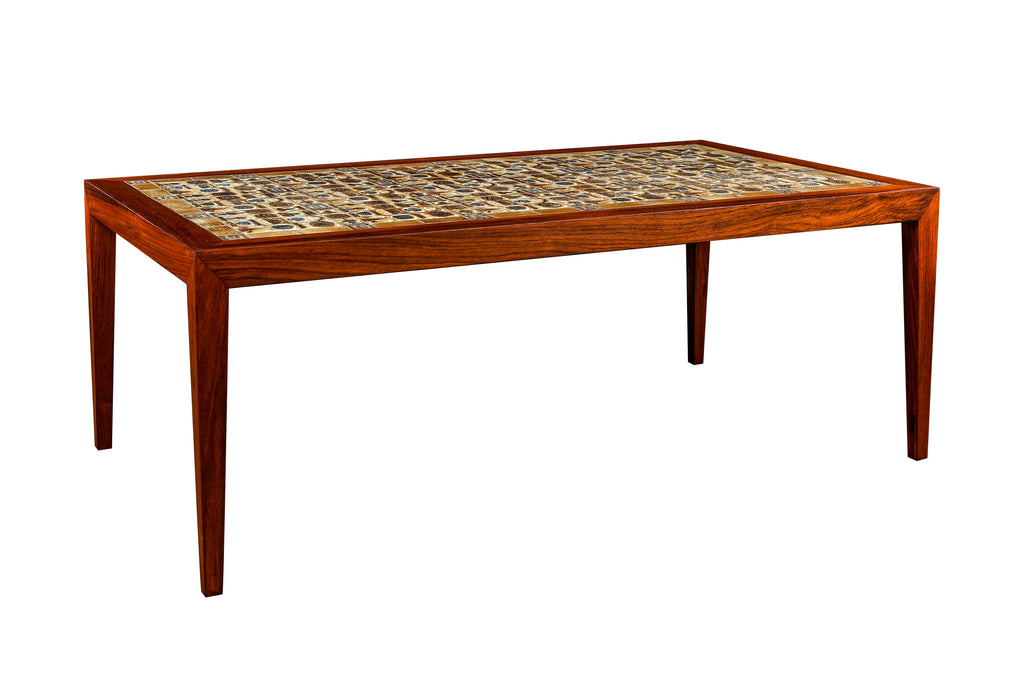 "-SOLD- ""BACA"" Tile Table by Severin Hansen Jr. w/ Royal Copenhagen"