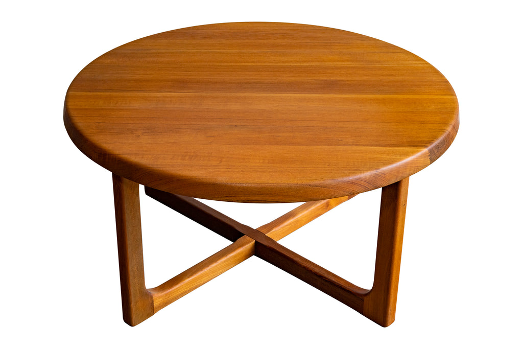 Teak Round Coffee Table by Niels Bach
