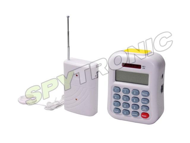 Wireless flood detector with telephone dialer alarm