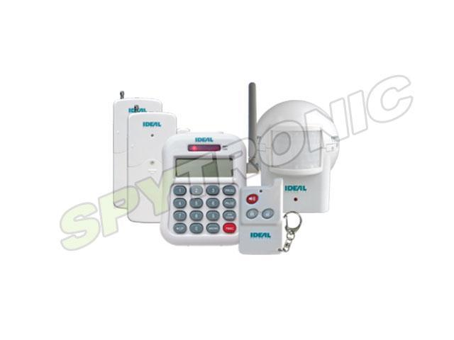 Home security system with telephone dialer alarm