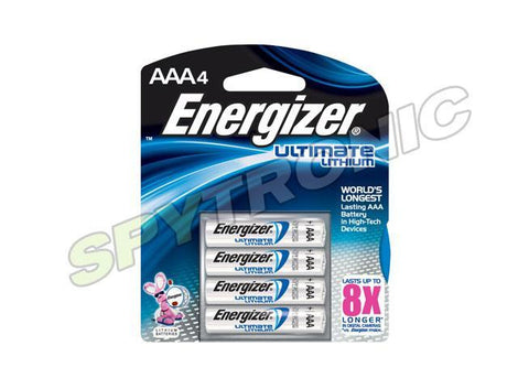 4 piles longue durée Energizer Ultimate Lithium AAA