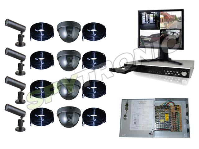 8 cameras and audio video digital recorder complete set