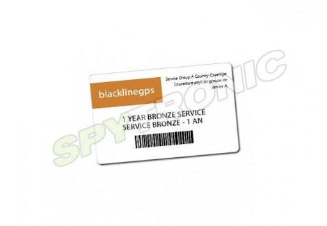 Blackline GPS BRONZE 1 year service card