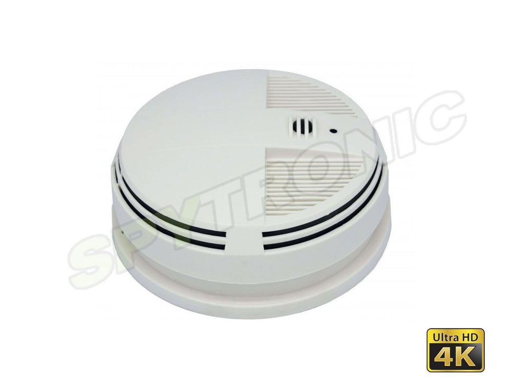 Zone Shield, 4K Night Vision Smoke Detector hidden camera