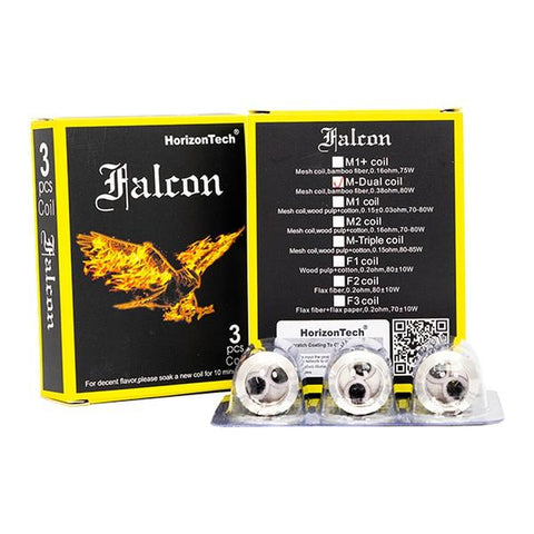 HorizonTech Falcon M-Dual 0.38Ω Dual Mesh Coils (Pack of 3)