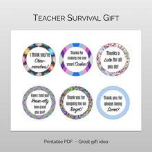 Load image into Gallery viewer, printable teacher gift tags