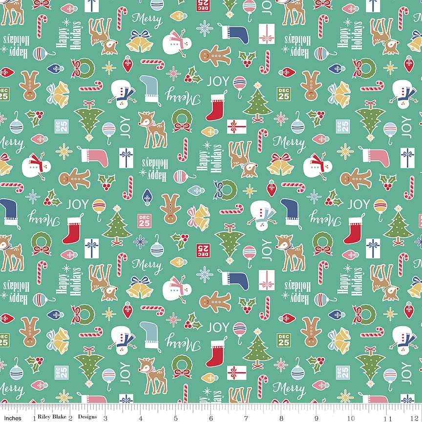 "Riley Blake: Cozy Christmas - 5"" Stackers - 27 Pieces"