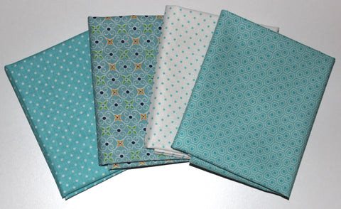 Riley Blake: Fat Quarter 4 Pack - Swiss Dots/Glamper/Cozy