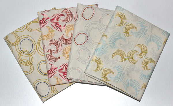 Cloud9 Fabrics: Fat Quarter 4 Pack - Rain Walk