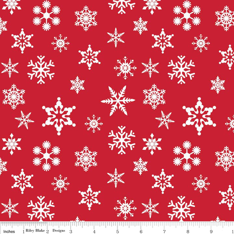 Riley Blake: Holiday Banners - Snowflakes: C566