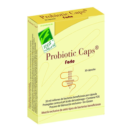 Probiotic Caps Forte 30 cápsulas - 100% Natural