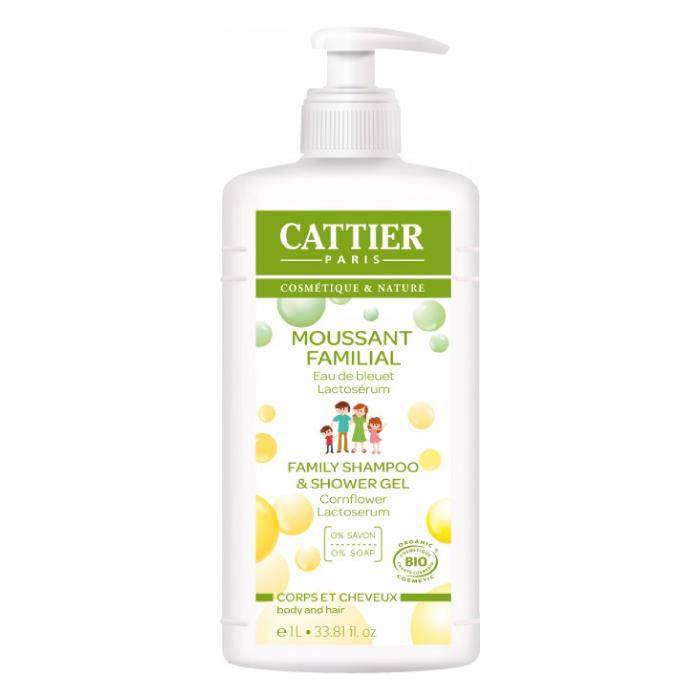 Gel de baño y champú espumoso familiar con lactoserum 1l. - Cattier