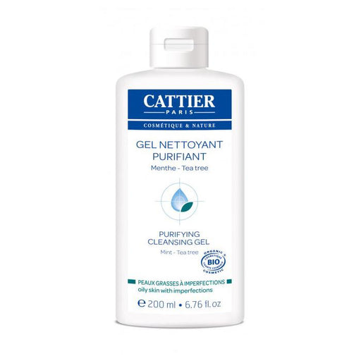 Gel limpiador purificante con tea tree 200ml. - Cattier