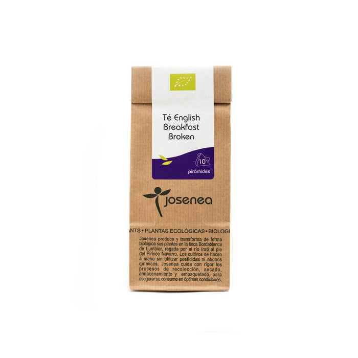 Té English Breakfast · Josenea BIO · Bolsa de papel kraft con 10 pirámides.