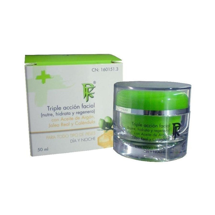 Crema hidratante triple acción facial 50ml. - Rueda Farma