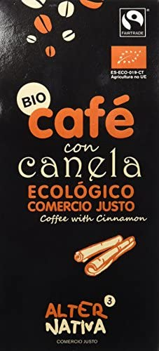 Café molido con canela ECO 125 gr. Alternativa 3 - Secretos de Botica