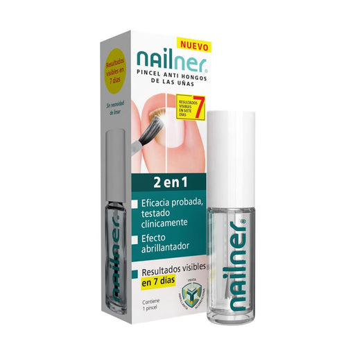 Nailner pincel 2 en 1 antihongos para uñas 5ml. · Reva Health · Secretos de Botica