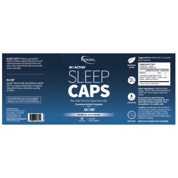 21a - Bioactive Sleep Caps with ISO99 - Revive IV Lounge & Pro Performance US - Best USA Supplements, FDA Approved