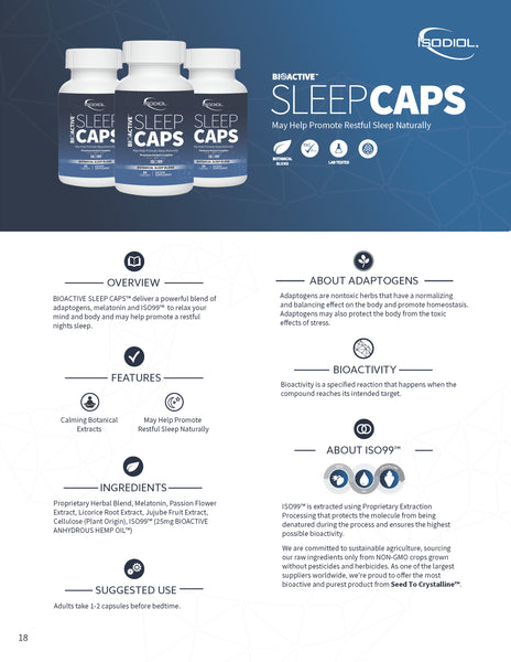 21f - Bioactive Sleep Caps with ISO99 - Revive IV Lounge & Pro Performance US - Best USA Supplements, FDA Approved