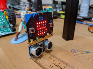 Ultrasonic Distance Sensor with Python and the micro:bit