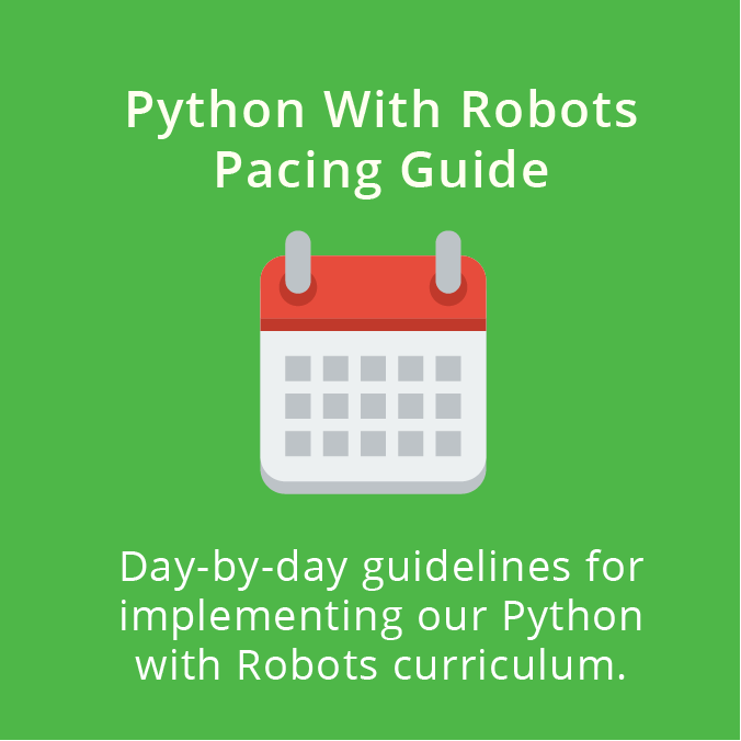 Python With Robots Pacing Guide
