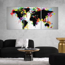 Load image into Gallery viewer, World Map Graffiti Art Print