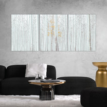 Load image into Gallery viewer, White Forest Abstract Print