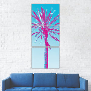 Retro Palm Tree Art Nature Print