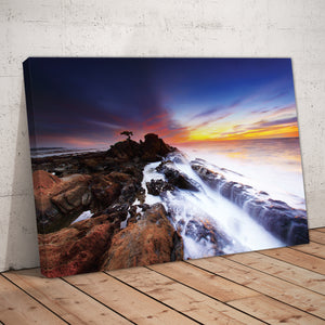 Rocky Shore, Crashing Waves Print