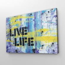 "Load image into Gallery viewer, ""Live Life"" Abstract Art Print"