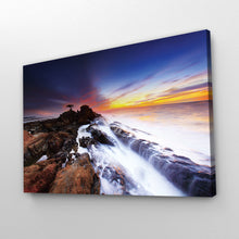 Load image into Gallery viewer, Rocky Shore, Crashing Waves Print