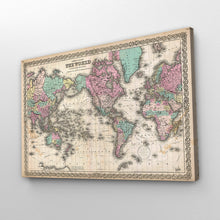 Load image into Gallery viewer, Antique Vintage World Map Print