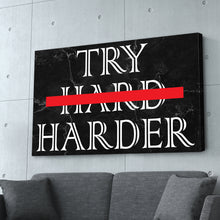 "Load image into Gallery viewer, ""Try Harder"" Black Marble Entrepreneur Print"