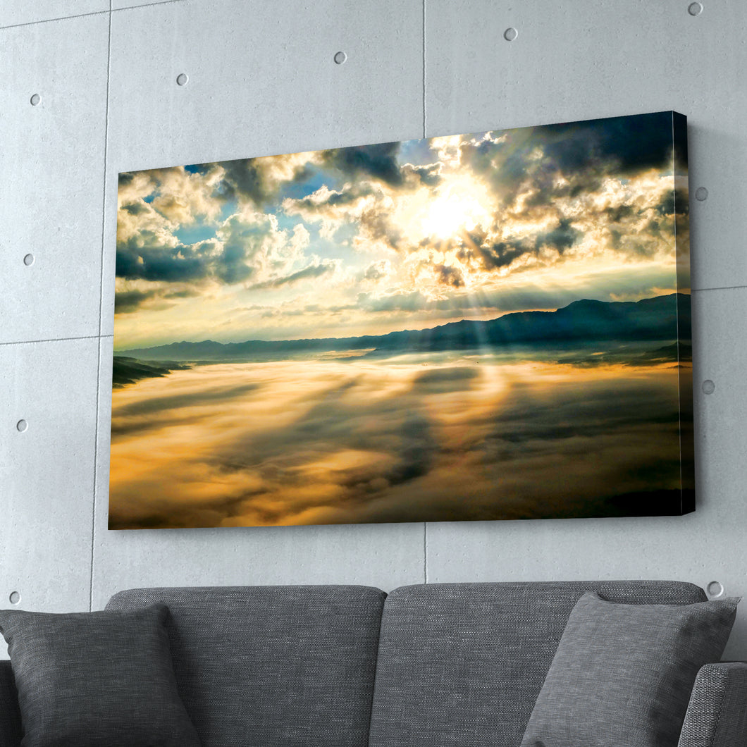 Sunrise Sunset over Mountains Print