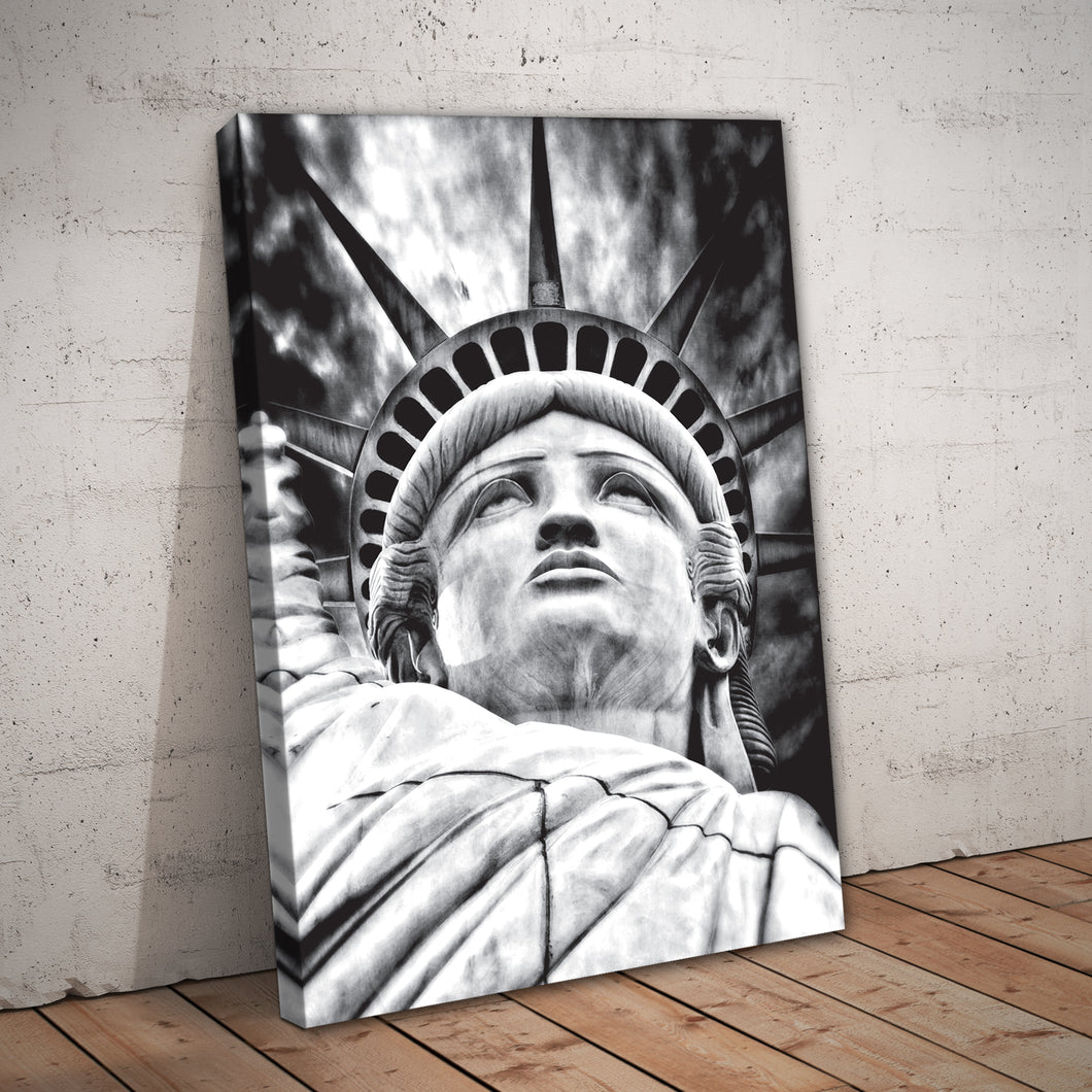 Statue of Liberty Black & White Art Print