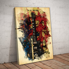 Load image into Gallery viewer, Music Guitar Abstract Art Print