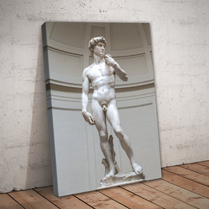 Statue of David by Michelangelo Print