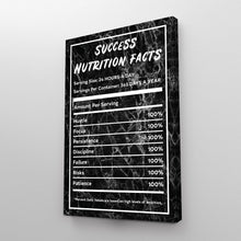 Load image into Gallery viewer, Success Nutrition Facts Black Marble Entrepreneur Print