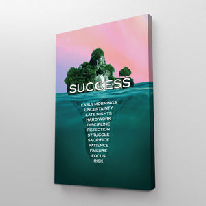Paradise of Success Motivational Print
