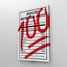 Load image into Gallery viewer, Success Nutrition Facts 100 Entrepreneur Print